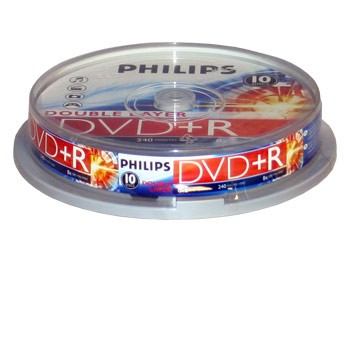 DVD+R Doble Capa 8x Philips Tarrina 10 uds