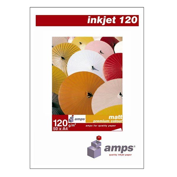 AMPS Papel Mate para Color Premium 120 G/m2 Pack 50 uds