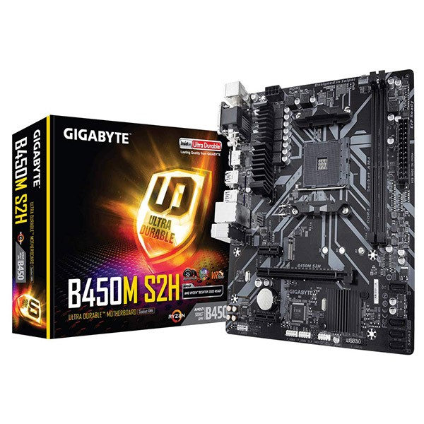 Placa Base Gigabyte B450M S2H mATX Socket AM4