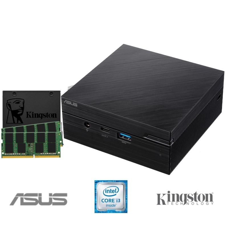 Mini PC BLACK PEARL ASUS i3-10110U 8GB DDR4 480GB SSD