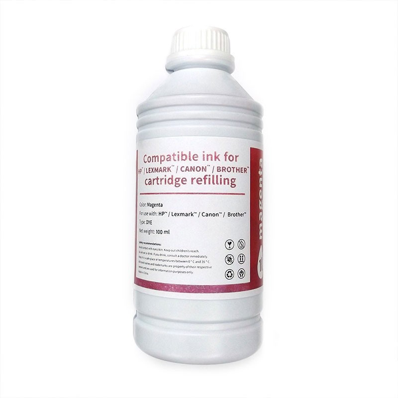 HP/Lexmark/Canon/Brother Bote Tinta Compatible para Recarga Magenta 100ml