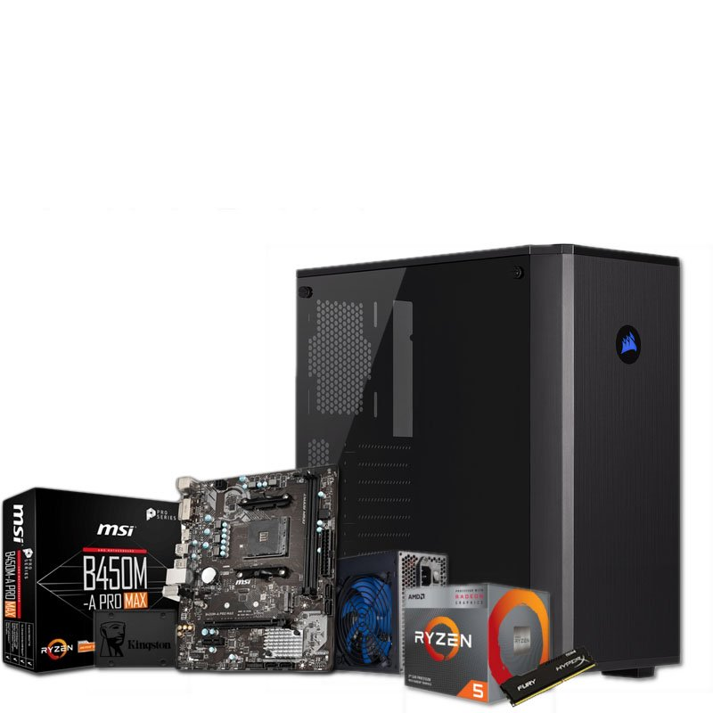 PC GAMING DARK L Ryzen 5 3400G 8GB 480GB SSD W10