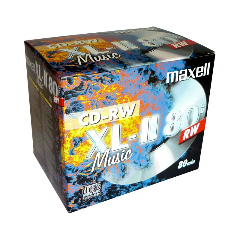 CD-RW Audio Maxell Music XL-II 80 Caja Jewel pack 10 uds