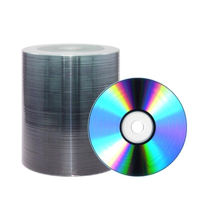 CD-R 48X JVC-Taiyo Yuden Pro Plata Thermal Printable 100 uds