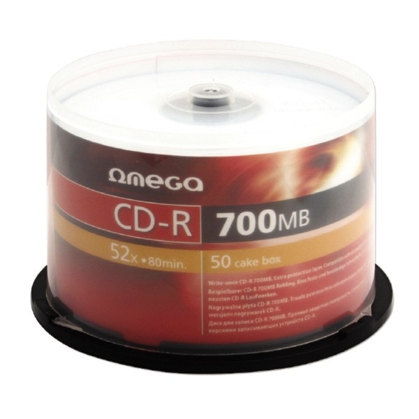 CD-R 52x 700MB Omega Tarrina 50 uds