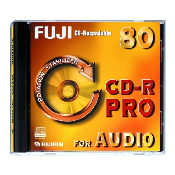 CD-R Audio Fuji Pro 80 min Caja Jewel pack 10 uds