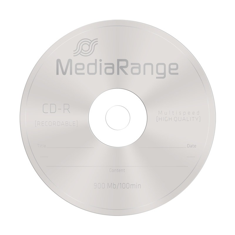 CD-R 48x 900MB MediaRange (100 minutos) Tarrina 25 uds