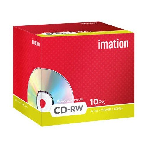 CD-RW 4x 700MB Imation Regrabable Caja Jewel pack 10 uds