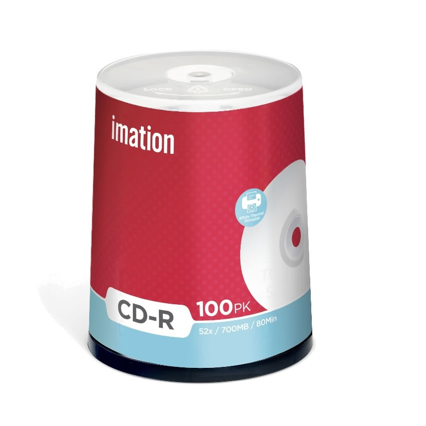 CD-R 52x Imation Thermal Printable Blanco FF Tarrina 100 uds