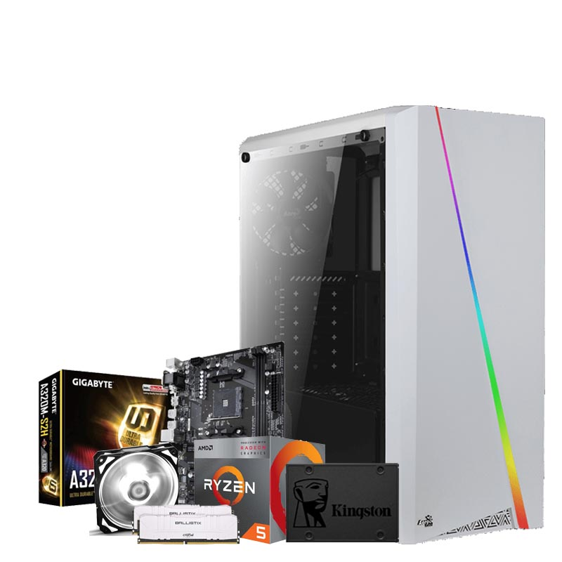 PC Communion Smart White - AMD Ryzen 5 3400G 16GB 480GB SSD