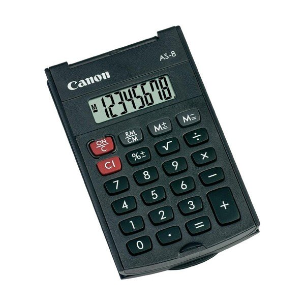 Calculadora de Bolsillo Canon de 8 Digitos
