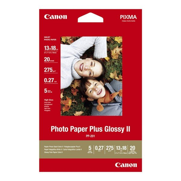 Canon Papel Foto Glossy PP-201 265 G/m2 Pack 20 uds (13x18)