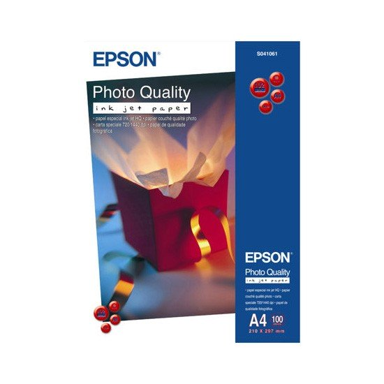 Epson Papel Photo Quality Ink Jet Paper 102 G/m2 Pack 100 uds A4