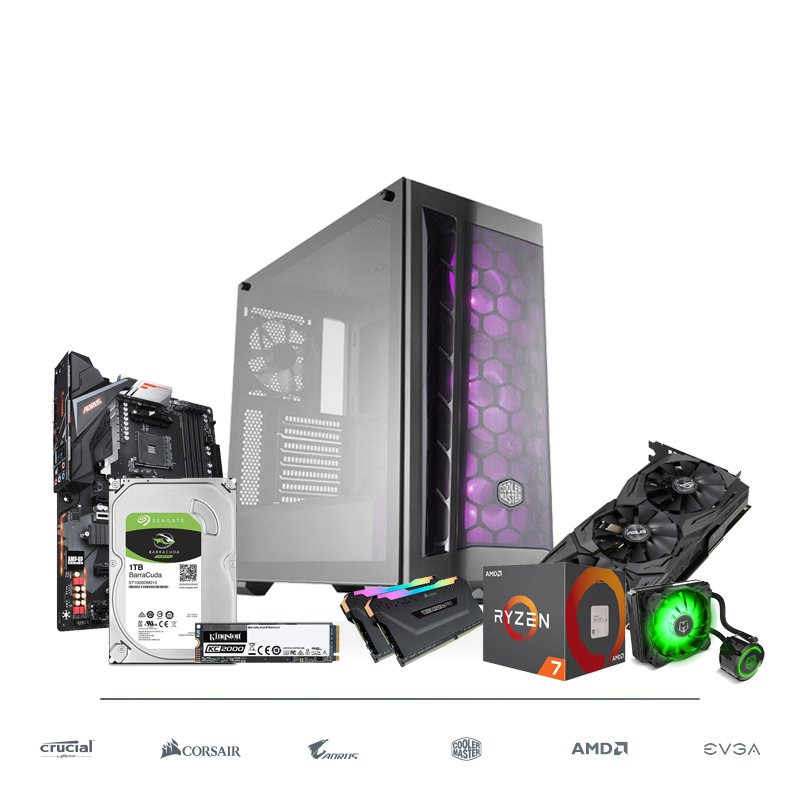 PC Gaming FAST AND GO Ryzen 7 2700 16GB 1TB + 500GB SSD RTX 2060 OC 6GB