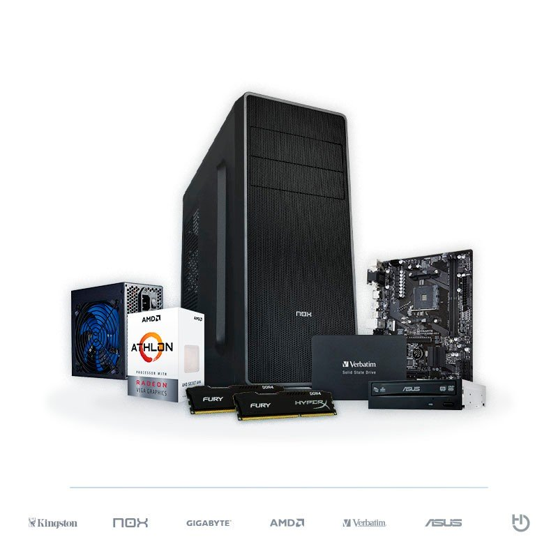 PC BARBANEGRA Athlon 200GE Radeon Vega 3 8GB DDR4 120GB SSD