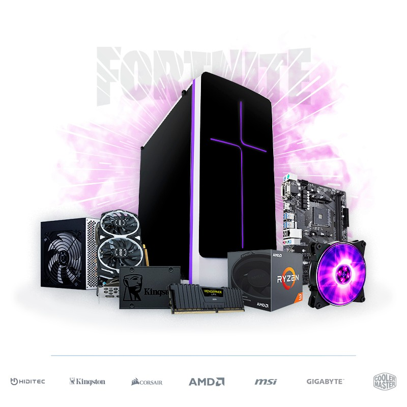 PC Gaming 'Fortnite' Ryzen 3 1300X 8GB 240GB RX 570 8GB