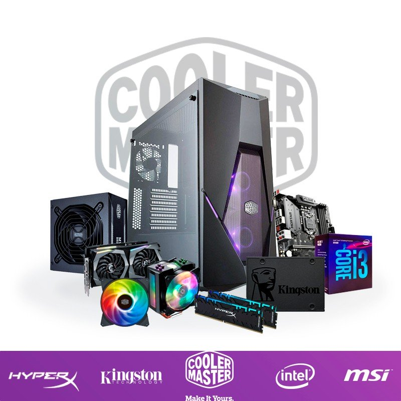 PC Gaming 'The Master' i3-8100 16GB 480GB SSD RTX 2060 6GB