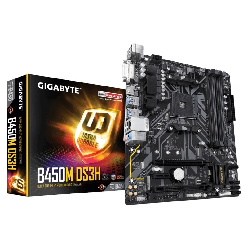 Placa Base Gigabyte B450M DS3H mATX Socket AM4