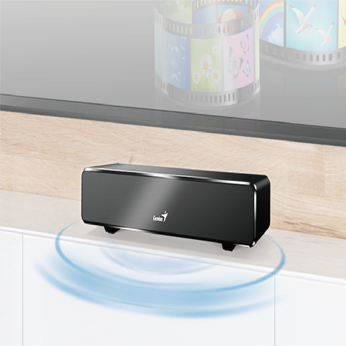 Mini Barra de Sonido USB Genius 100 Negro