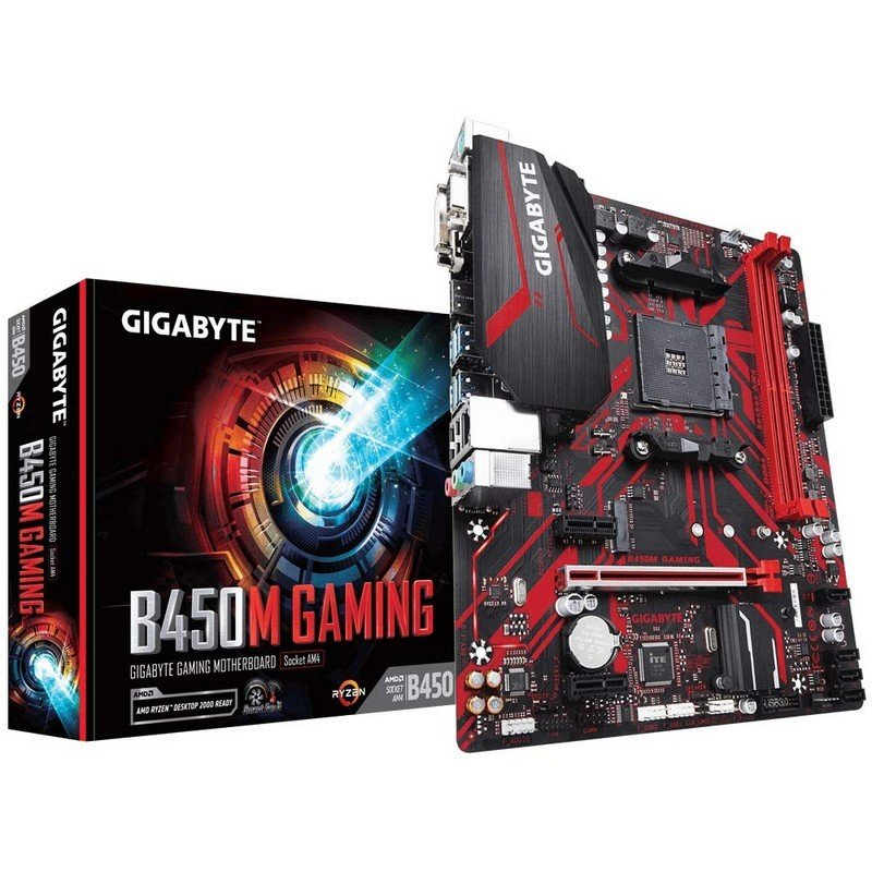 Placa Base Gigabyte B450 Gaming mATX Socket AM4