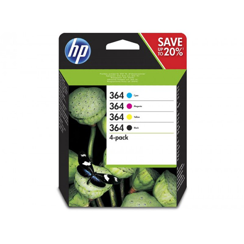 HP 364 Cartucho de Tinta Original Pack Tricolor + Negro