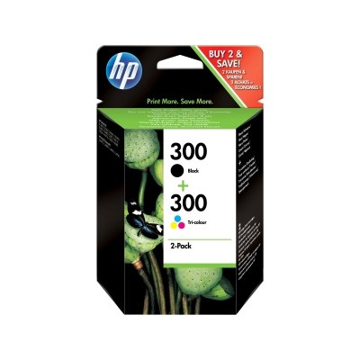 HP 300 Cartucho de Tinta Original Pack de 2 (Color + Negro)