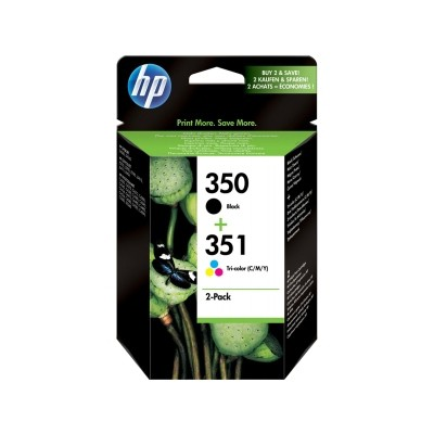 HP 350 / 351 Cartucho de Tinta Original Pack Negro + Color