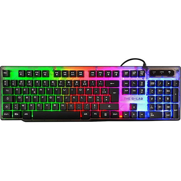 Teclado The G Lab Keyz Neon Retroiluminado Multicolor