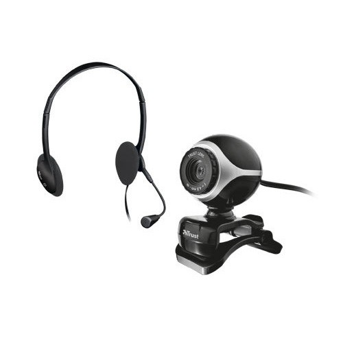 Kit Auriculares y Webcam Trust Exis Chatpacke 17028