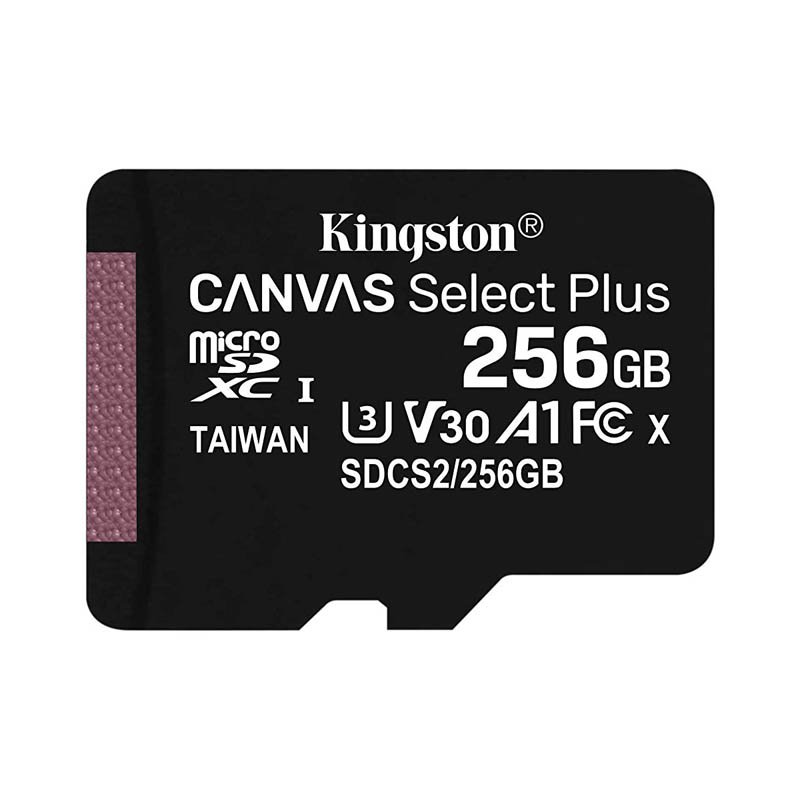 Tarjeta MicroSDXC 256GB Clase 10 UHS-I U3 V30 Kingston Canvas Select Plus sin Ad