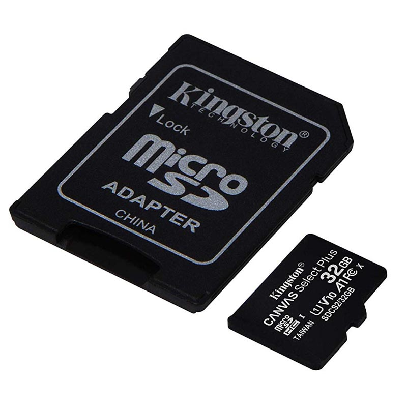 Tarjeta MicroSDHC 32GB Clase 10 UHS-I V10 Kingston Canvas Select Plus - Pack 3