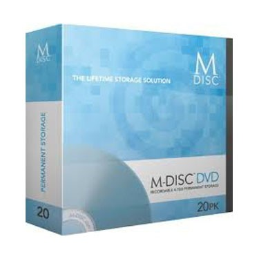 M-Disc DVD Millenniata Staplebox 20 uds