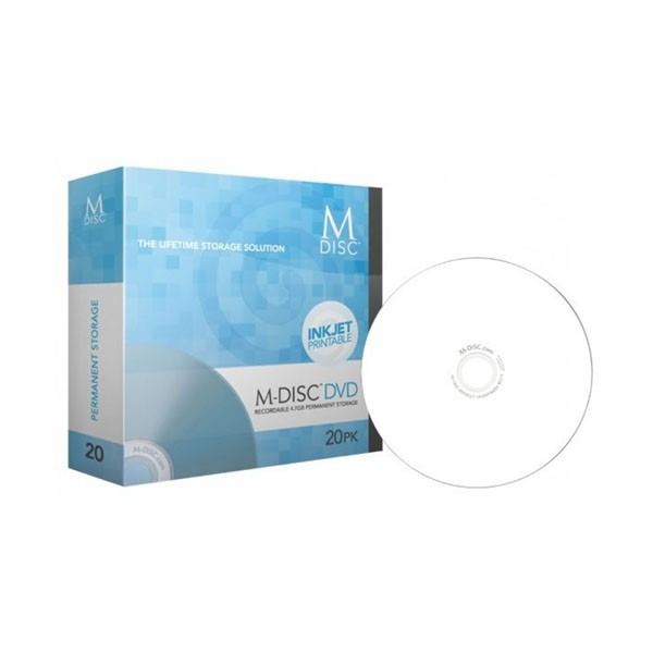 M-Disc DVD Millenniata FF Printable Staplebox 20 uds