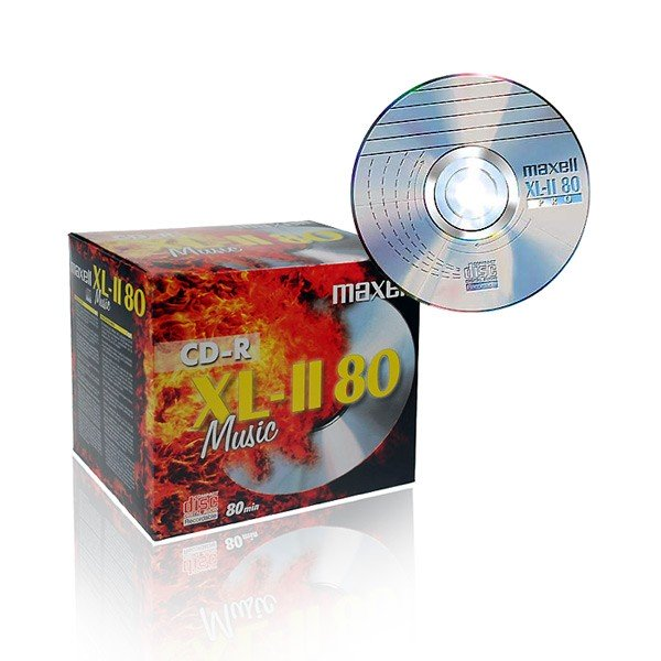 CD-R Audio Maxell Music XL-II 80 Caja Jewel pack 10 uds