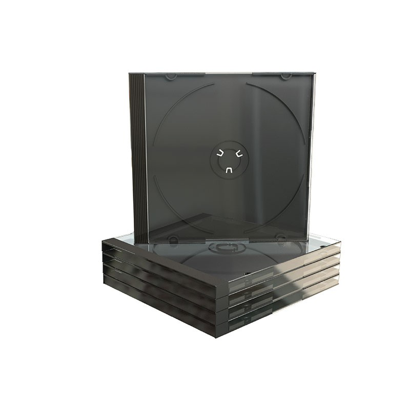 Mediarange CD Jewel Case Single Black Tray 100 pcs