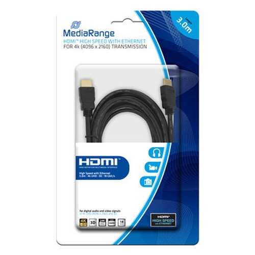 Cable HDMI con Ethernet MediaRange 3mts