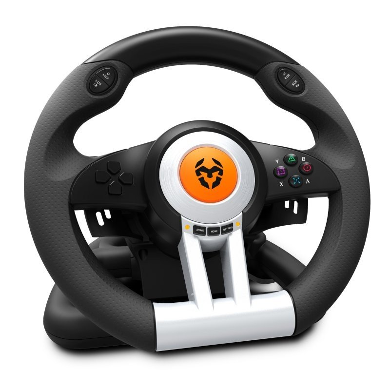 Volante + Pedales Krom K-Wheel PC / PS3 / PS4 / XBOX ONE