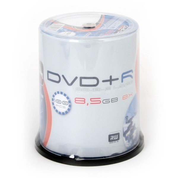 DVD+R Doble Capa 8x Omega Freestyle FF Printable Tarrina 100 uds