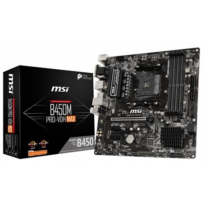 Placa Base MSI B450M PRO-VDH MAX mATX Socket AM4