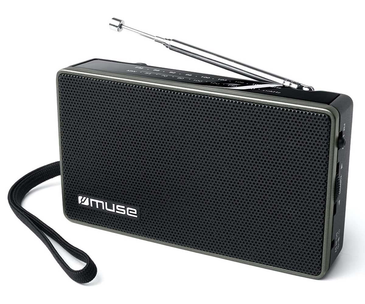 MUSE M-030 R NEGRO RADIO ANALÓGICA FM/AM CON ALTAVOZ INTEGRADO