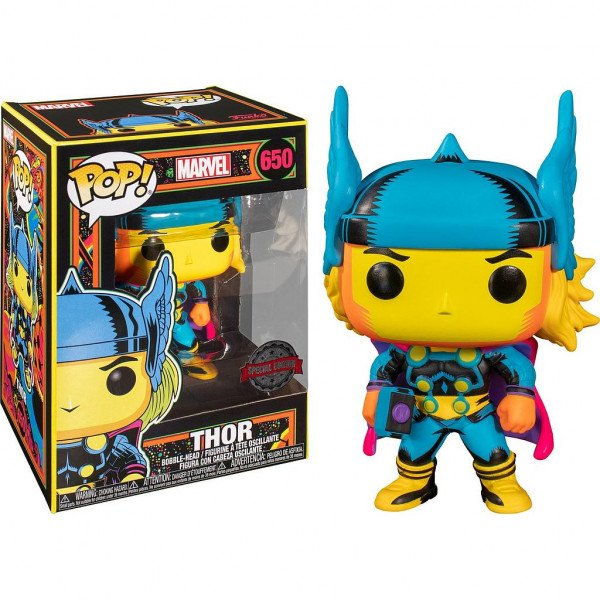 Funko pop marvel black light thor multicolor