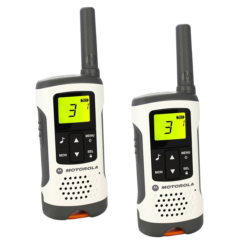 Walkie Talkie Motorola TLKR-T50 Blanco-Gris Pack 2