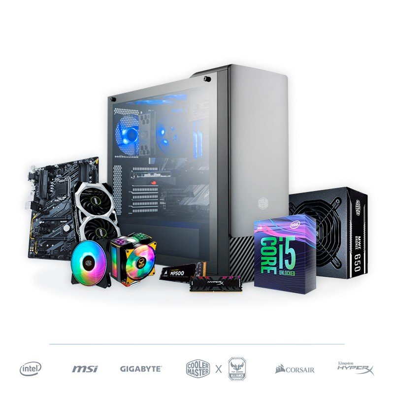 PC Gaming RGB i5-9600K 8GB 1TB RTX 2070 8GB