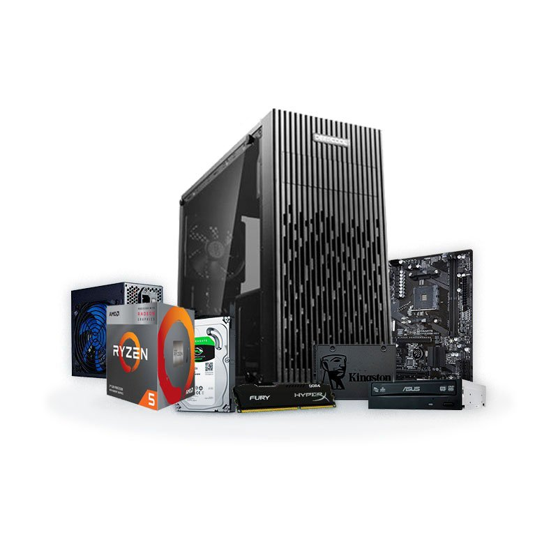 PC Back to School R5 - Ryzen 5 3400G 8GB 240GB SSD + 1TB