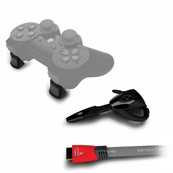 PS3 Pack Esenciales Online . Incl. Headset Gioteck EX01