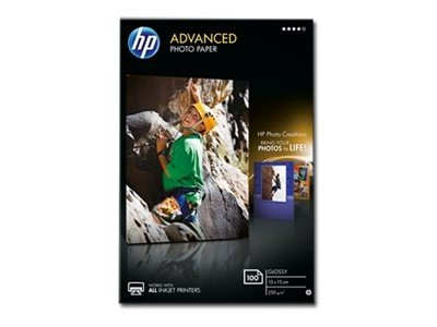 HP Papel Foto Advanced Glossy 250 g/m2, 100 hojas (100x150mm)