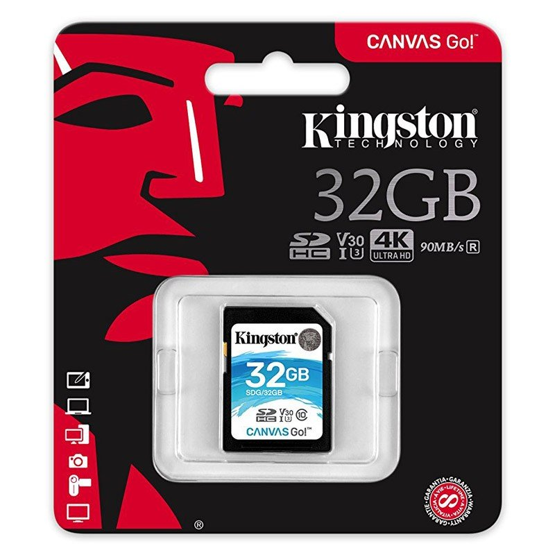 Kingston Canvas Go! Tarjeta SDHC 32GB Clase 10 UHS-I U3 V30