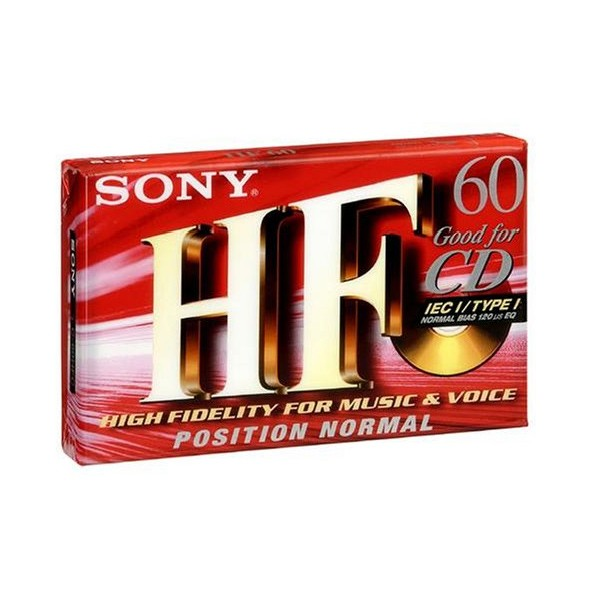 Audio Cassette SONY C60HF Type-I 10 uds