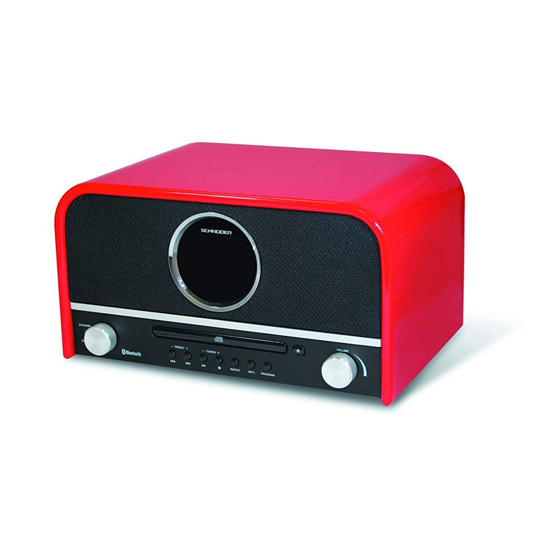 Microcadena Schneider Feeling´s Roja Bluetooth / CD