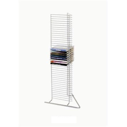 Rack/Stand 21 CD Para 40 Uds Plata (Metalico)